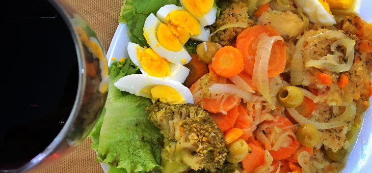 Receita de peixe com legumes no forno | Paleo – Low carb