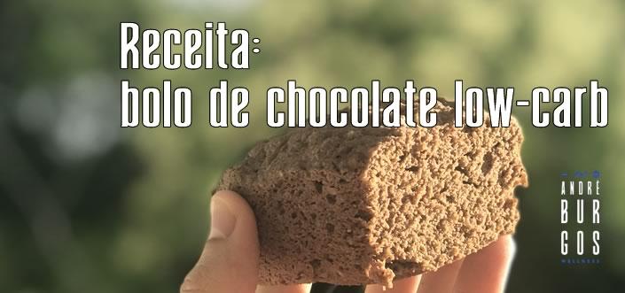 Receita de Bolinho de Chocolate Low-Carb